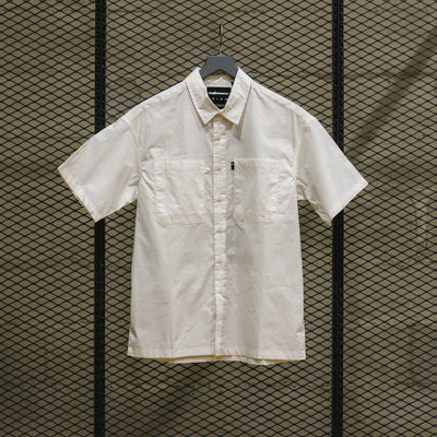 THE HUNDREDS MIXER SS WOVEN WHITE