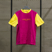 GUESS COLOR BLOCKED TSHIRT MIXED PORTENHO PINK