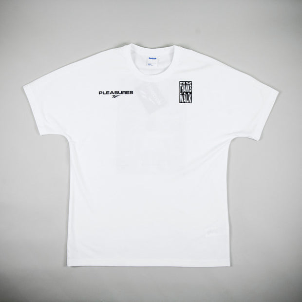 "Pleasures x Reebok ""No Thanks I´ll Walk"" Tee"