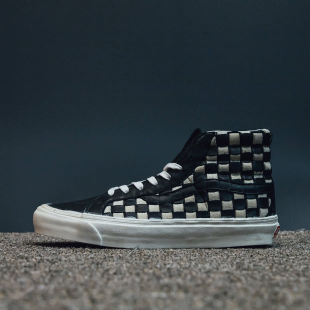 OG SK8-HI LX (WOVEN LEATHER) 50TH CHECKERBOARD