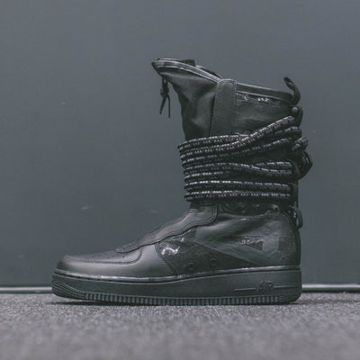 SF AF1 HI BLACK/BLACK DARK- GREY