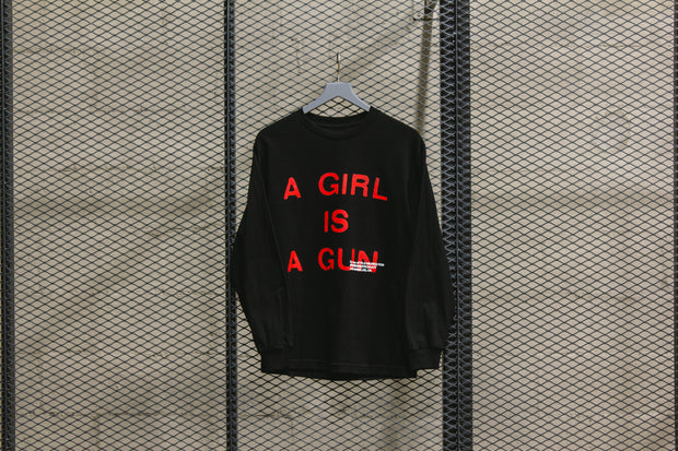 GIRL IS A GUN LS T-SHIRT BLACK