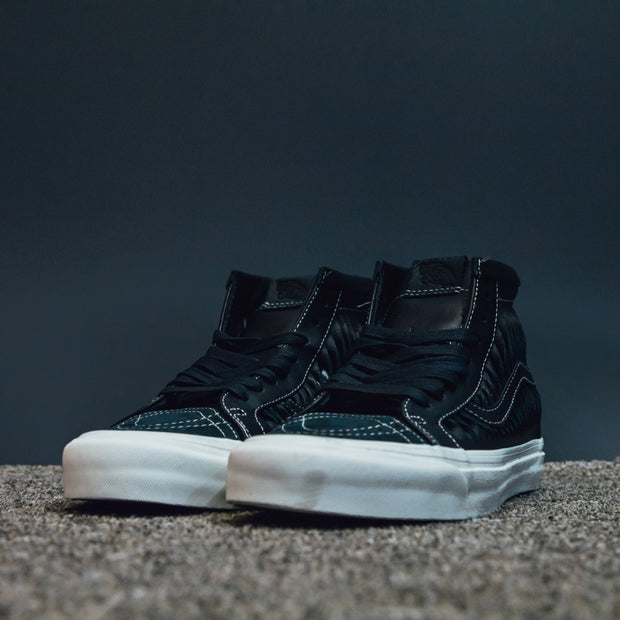 UA SK8-HI REISSUE LX (TWISTED LEATHER) BLACK/M