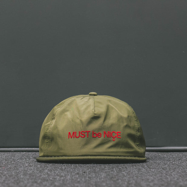 MBN SCREEP NAYLON SNAP BACK  OLIVE - LACES STORE