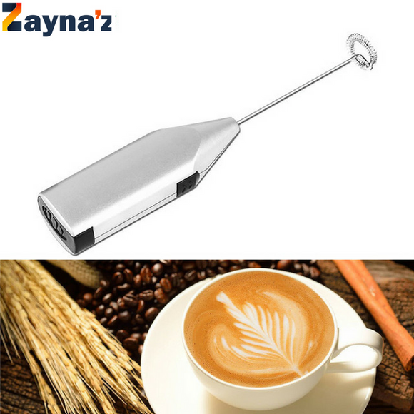 Coffee Hand-Held Battery-Operated Beverage Whisk / Milk Frother!