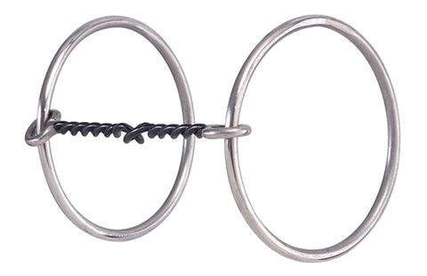 Twisted Wire O-Ring Snaffle