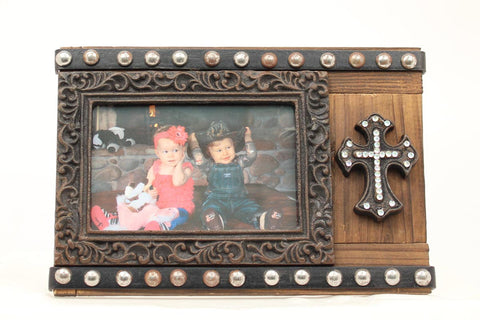 4X6 CRYSTAL CROSS PHOTO FRAME
