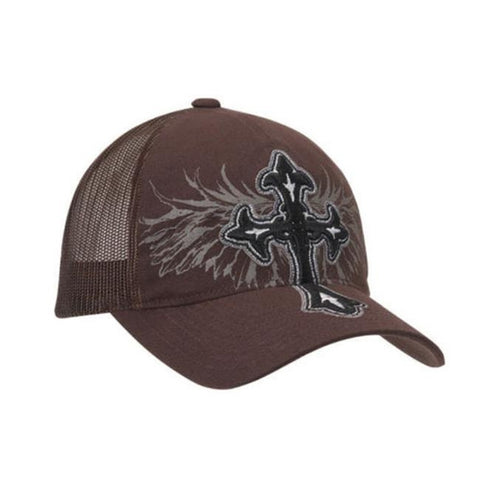 Blazin Roxx Ladies Flex Fit Cross & Wing Cap - Brown