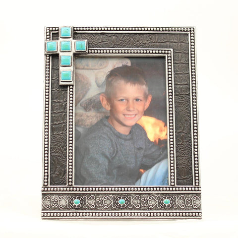 5X7 PHOTO FRAME WITH CROSS