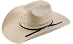 American Hat Co 7400 Triple Fancy Vented Straw Cowboy Hat - Ivory