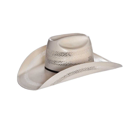 American Hat Co 8100 Fancy Vent Straw Cowboy Hat - Ivory