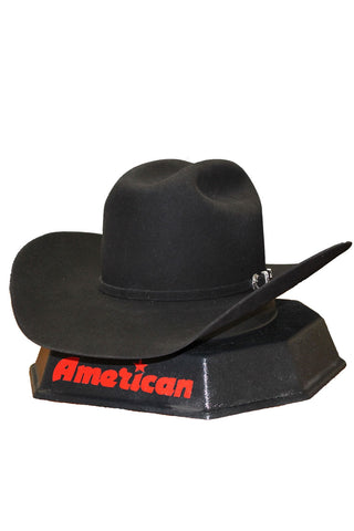 American Hat Co 6X Black Felt Hat