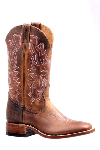 Boulet Women's Hillbilly Golden Wide Square Toe Cowboy Boot 7220