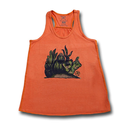 HOOEY SALMON COLORED CACTI WOMEN'S TANK TOP
