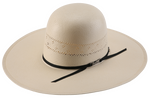 American Hat Solid Weave Fancy Vent Straw Hat 7210