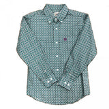 Cinch Boys Teal Green Buttondown