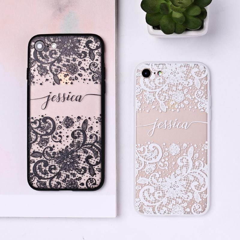 Vintage Flowers Custom Personalised Name Case // Hard Mobile Phone Case for iPhone