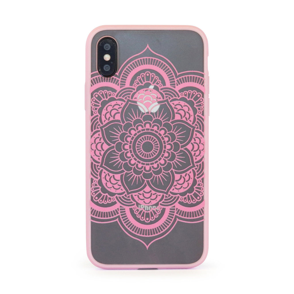 Pink Vintage Flower // Hard Mobile Phone Case for iPhone & Samsung