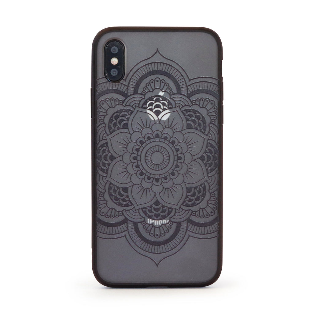 Black Vintage Flower Mobile Phone Case for iPhone & Samsung