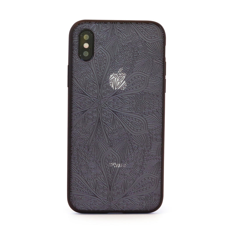 Black Vintage Garden Mobile Phone Case for iPhone