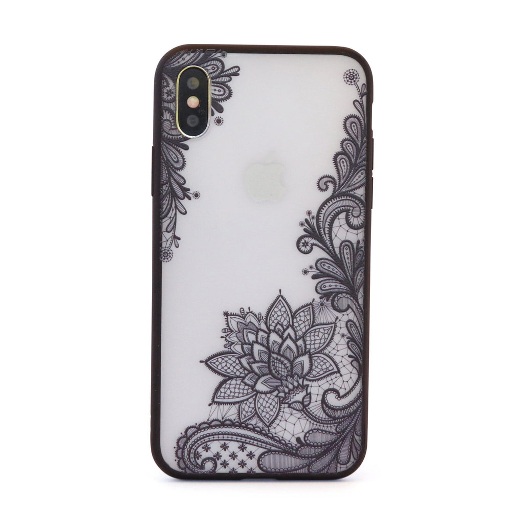 Black Vintage Vine Leaves // Mobile Phone Case for iPhone & Samsung