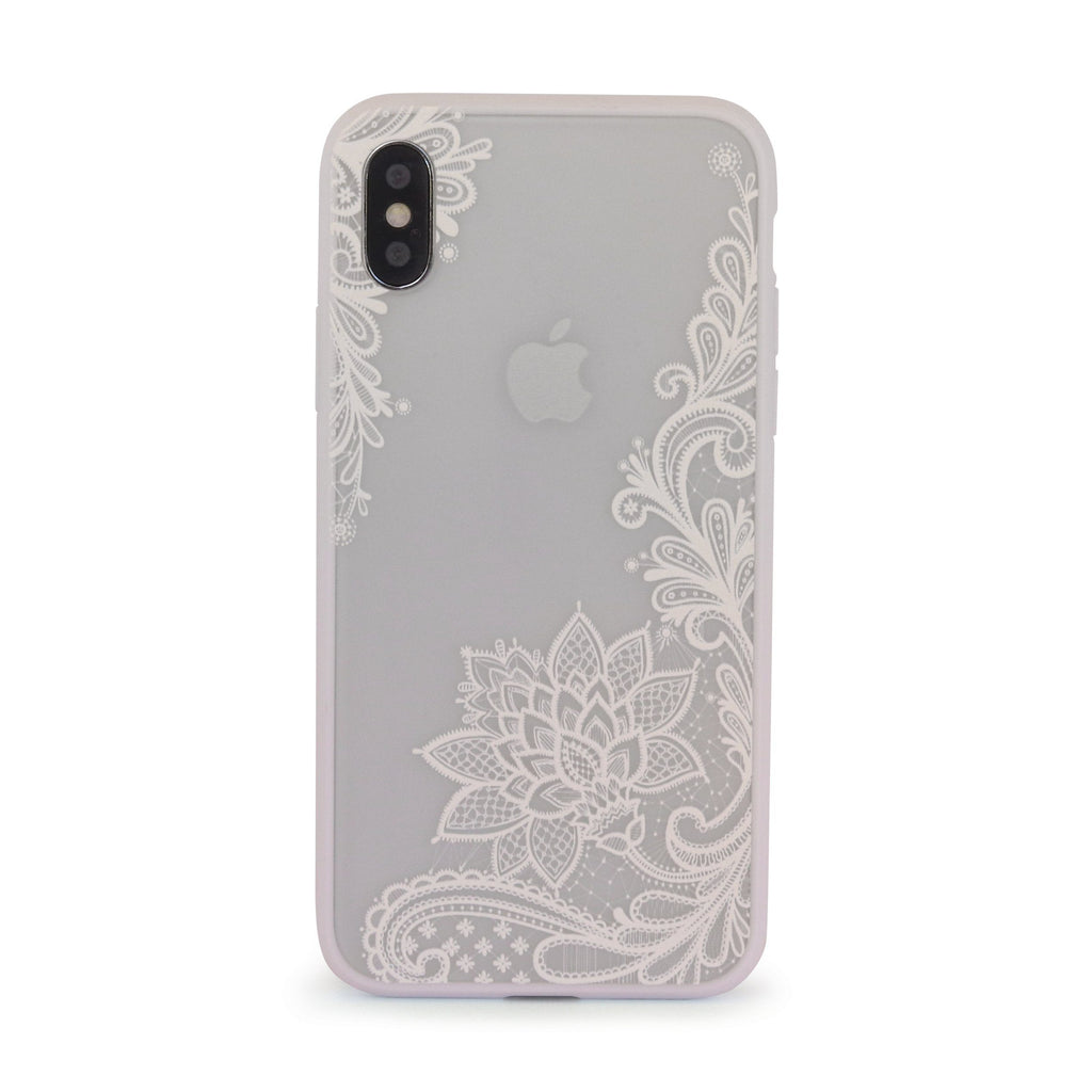 White Vintage Vine Leaves // Mobile Phone Case for iPhone