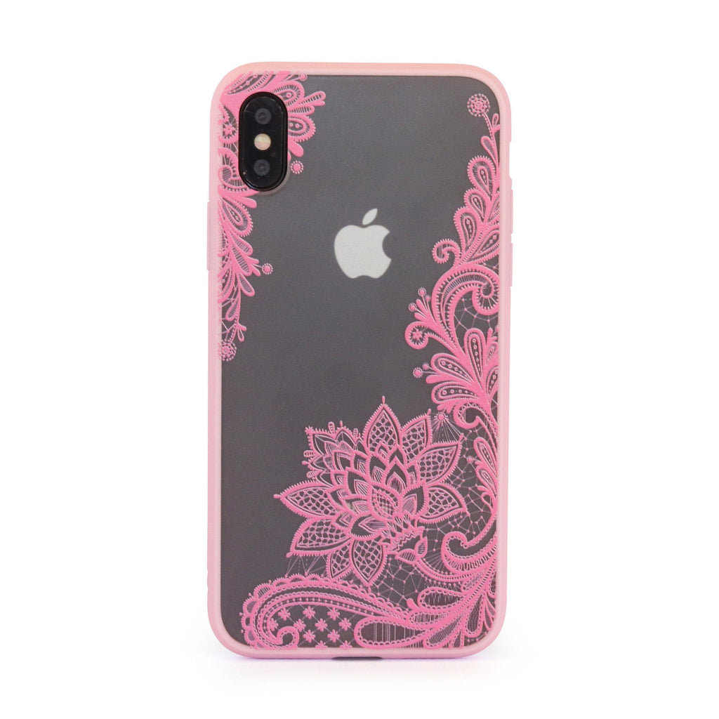 Pink Vintage Vine Leaves // Mobile Phone Case for iPhone