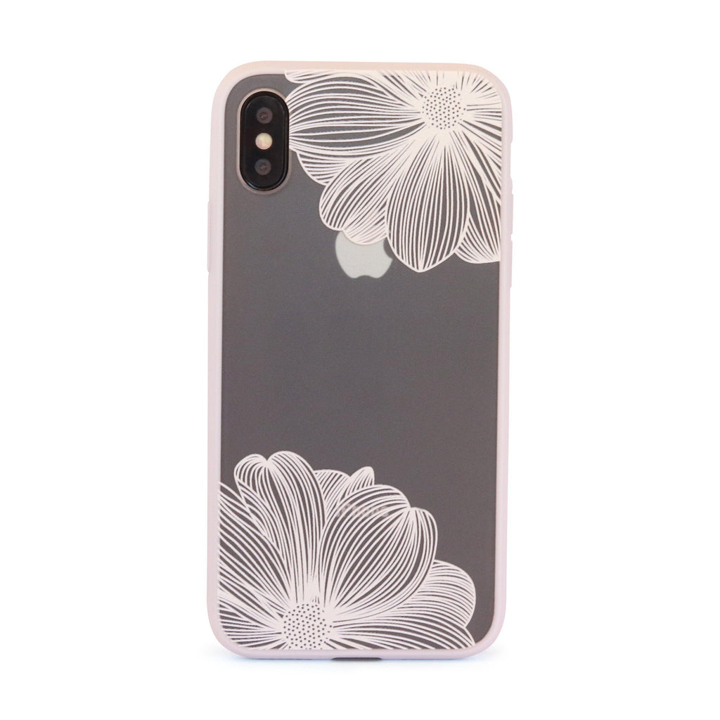 White Twin Flower // Mobile Phone Case for iPhone