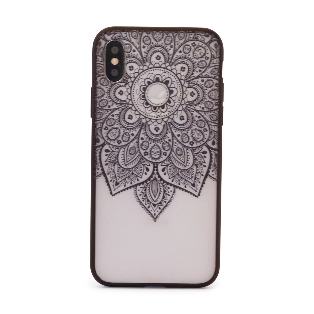 Black Vintage Doily Mobile Phone Case for iPhone