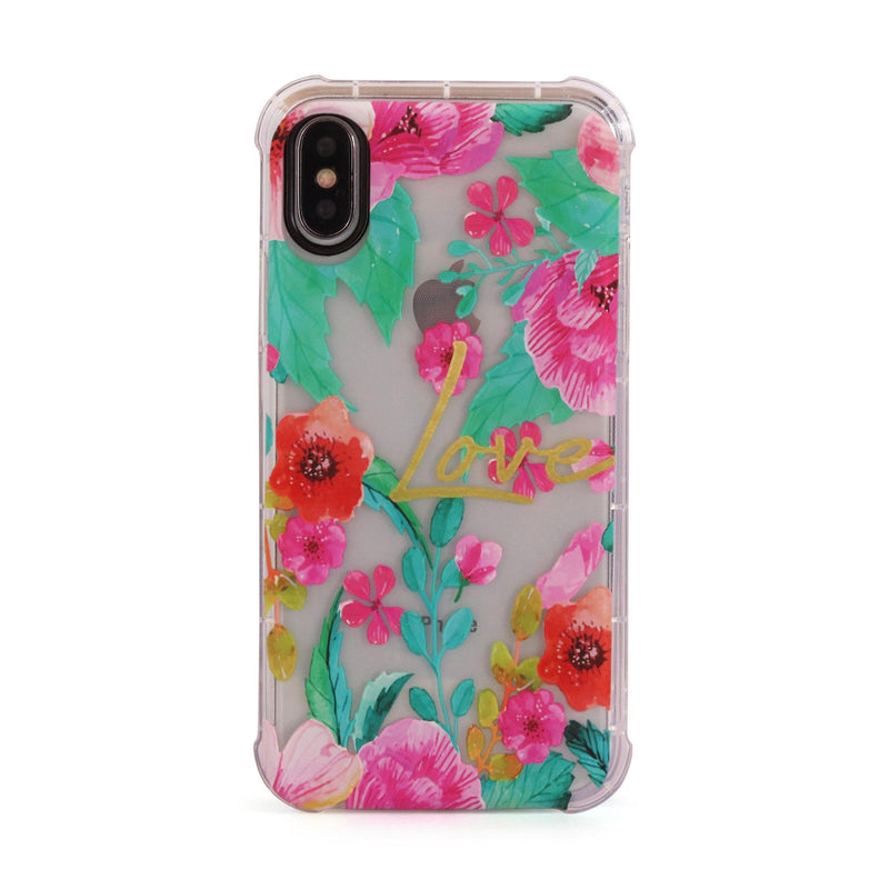 Love Flowers - 3D Embossed Protective Air Cushion Case // Protective Mobile Phone Case for iPhone & Samsung