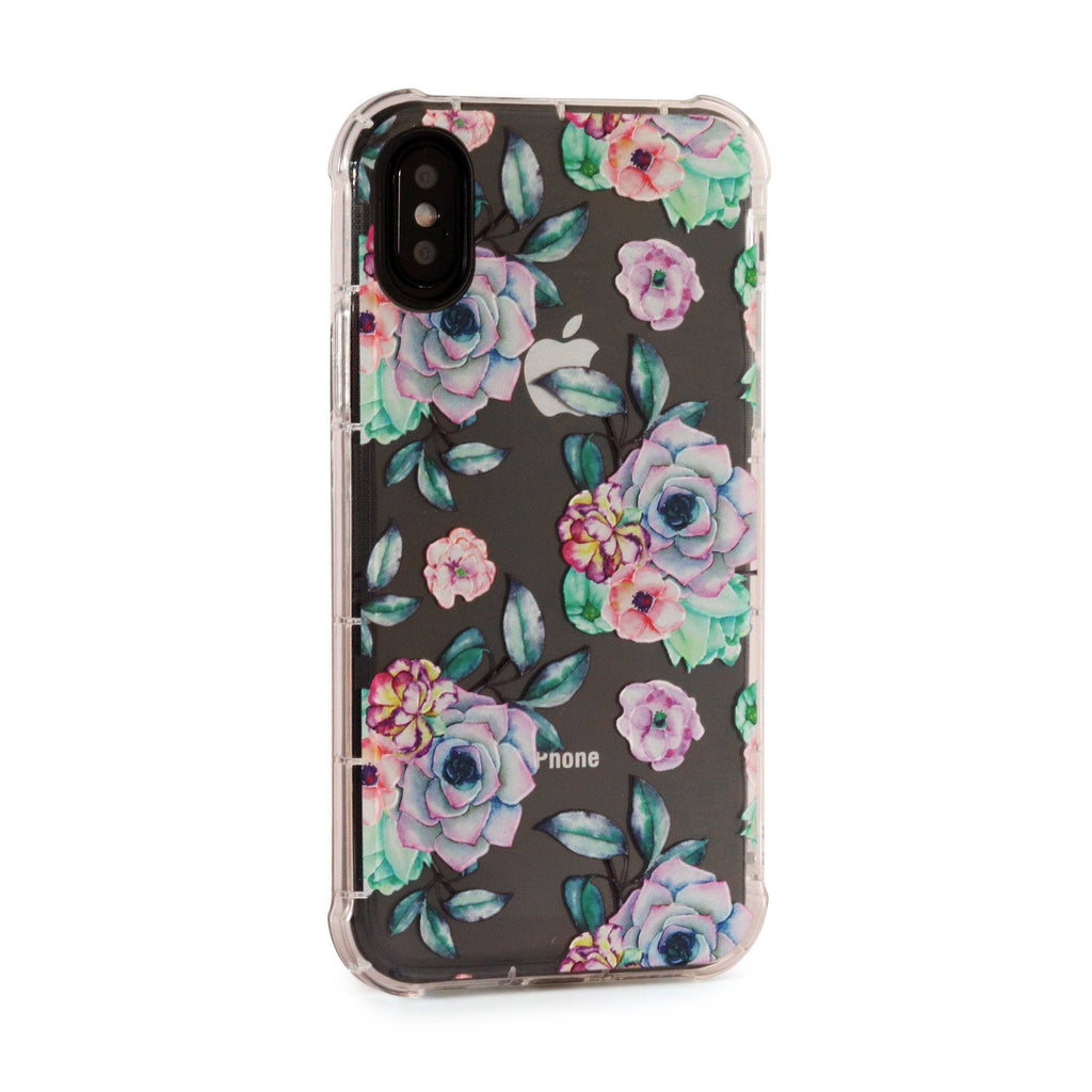 Purple Flowers - 3D Embossed Protective Air Cushion Case // Protective Mobile Phone Case for iPhone & Samsung