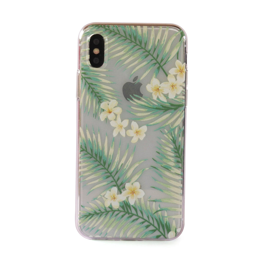 Frangipani Leaves // Tropical Soft TPU Mobile Phone Case for iPhone & Samsung