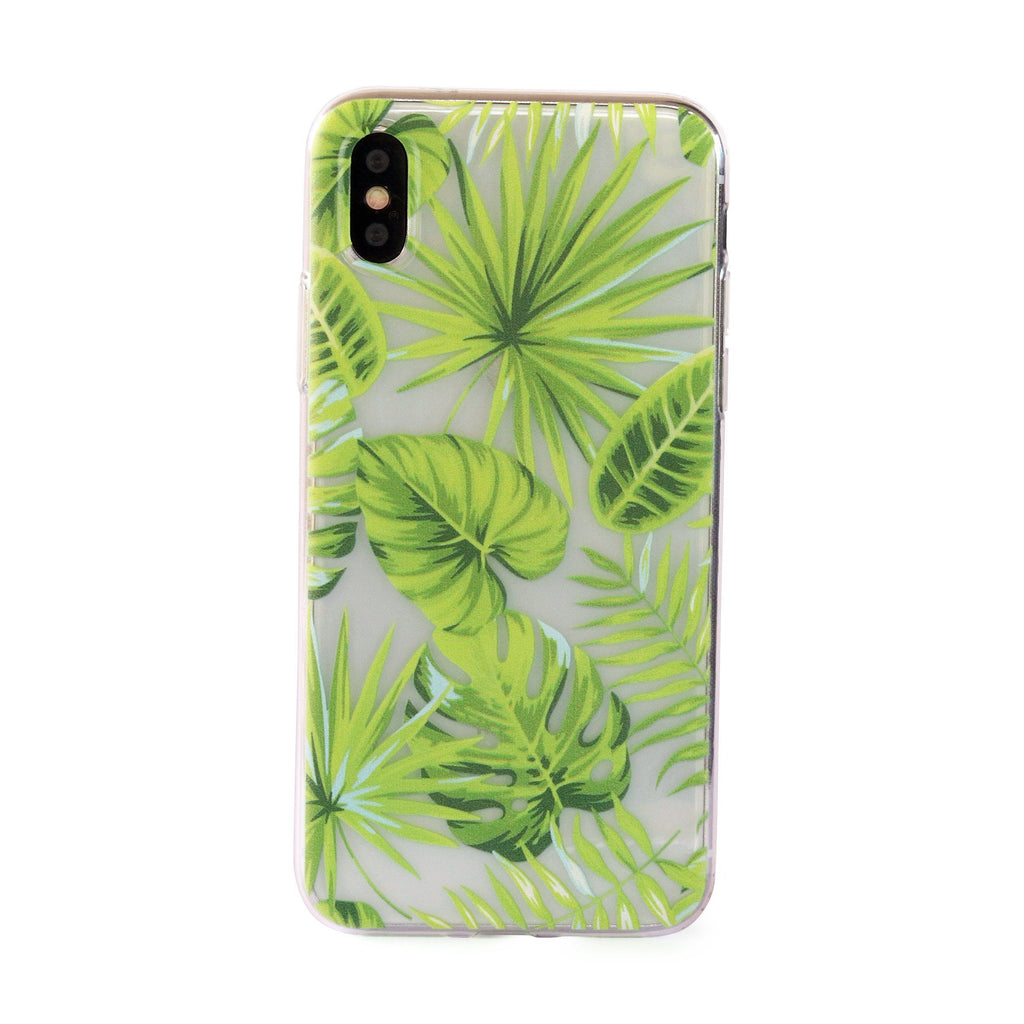 Rainforest Palm Trees // Tropical Soft TPU Mobile Phone Case for iPhone & Samsung