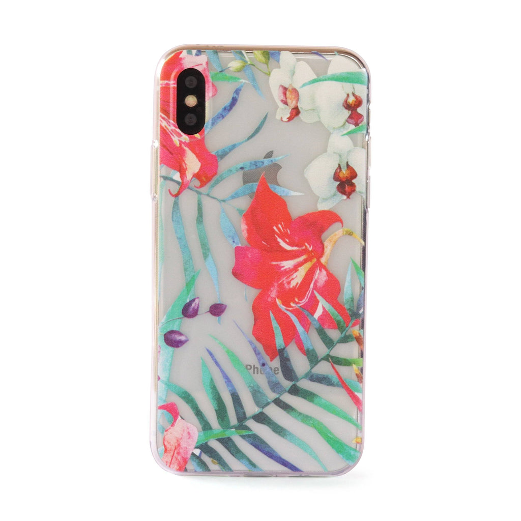 Hibiscus Flowers // Tropical Soft TPU Mobile Phone Case for iPhone & Samsung
