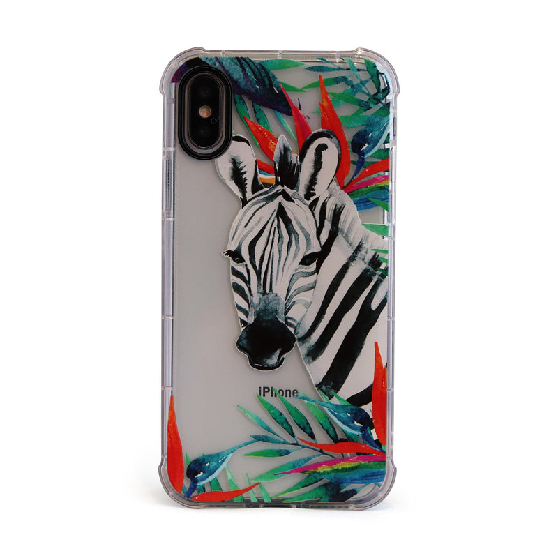 Zebra - 3D Embossed Protective Air Cushion Case // Protective Mobile Phone Case for iPhone & Samsung