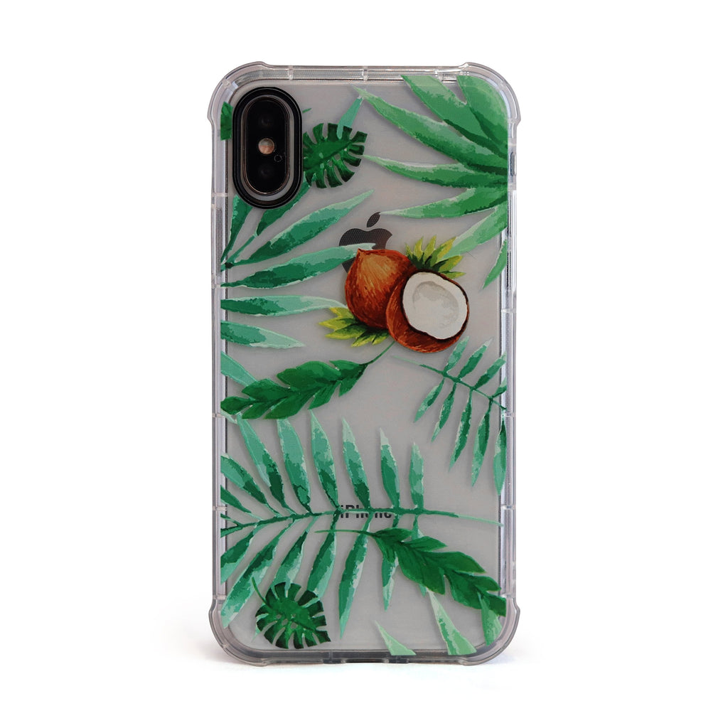Tropical Coconut - 3D Embossed Protective Air Cushion Case  Protective Mobile Phone Case for iPhone & Samsung