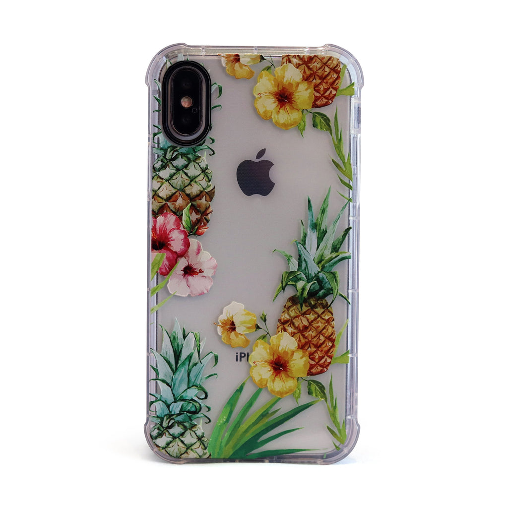 Tropical Pineapple - 3D Embossed Protective Air Cushion Case // Protective Mobile Phone Case for iPhone & Samsung