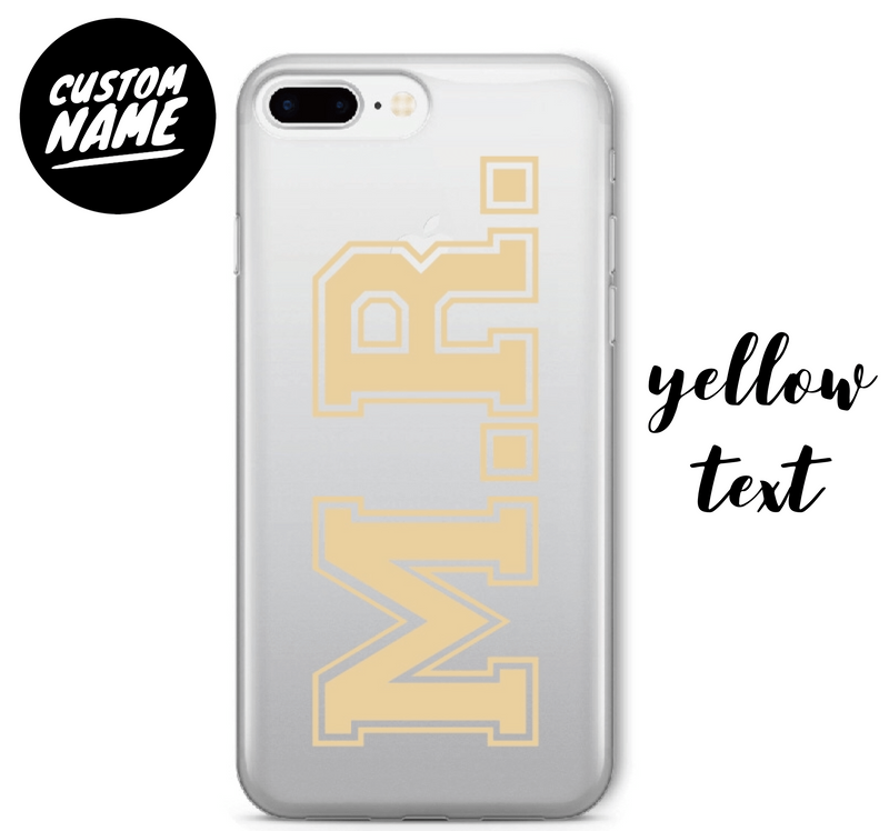 Custom Personalised Name Case // Soft TPU Mobile Phone Case for iPhone & Samsung