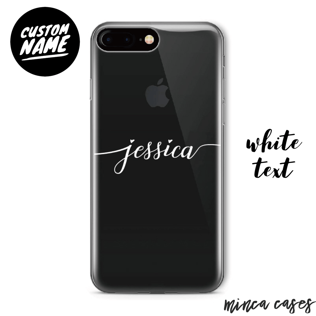 Custom Personalised Name Case - Cursive // Soft TPU Mobile Phone Case for iPhone & Samsung