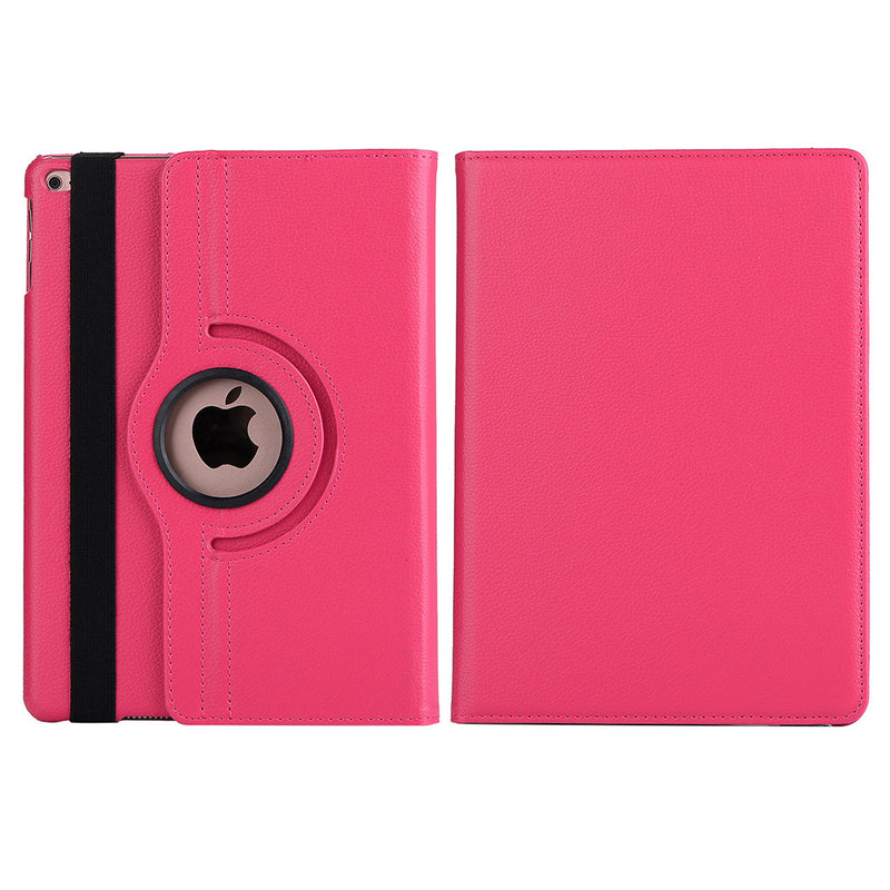Tablet PC Case 360 Rotating Stand Litchi Leather Full Body Protective Cover with Smart Wake/Sleep for iPad Air 1/2 2017 2018