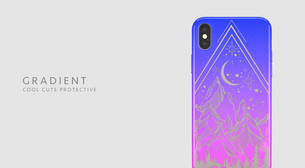 Gradient Chrome Shiny Geo iPhone Case Cover