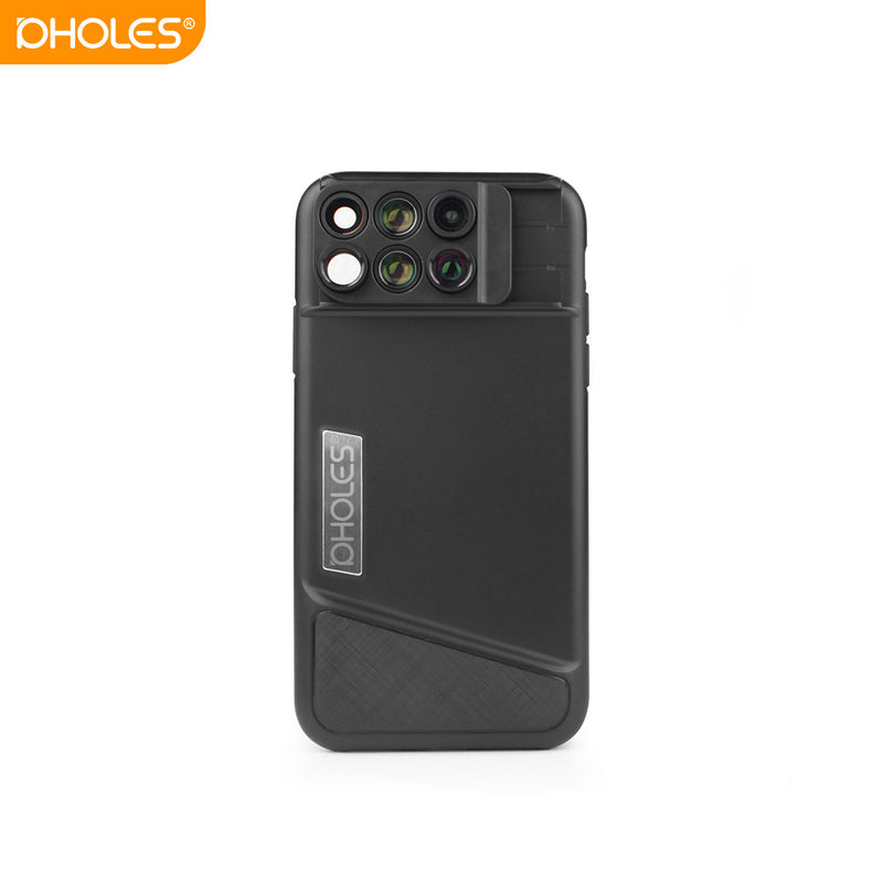 PHOLES X1 Phone Lens Case for iPhone X Fisheye Wide-angle Telephoto Macro Lens with TPU Protective Phone Case