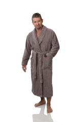 UNISEX ORGANIC COTTON GRIS ROBE