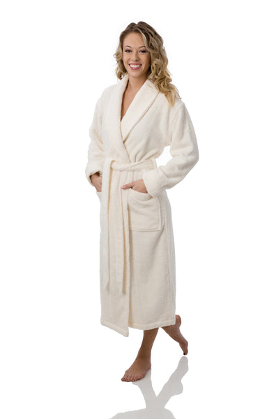 UNISEX ORGANIC COTTON NATURAL ROBE