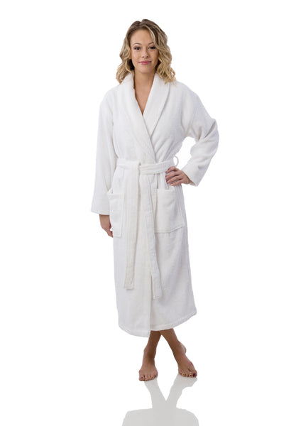UNISEX ORGANIC COTTON WHITE ROBE