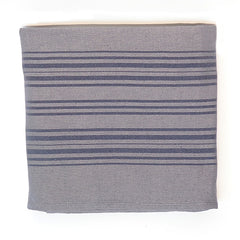 PESHTEMAL GRAY STRIPE THROW