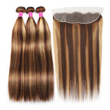 Malaysian Curly Virgin Hair 3 Bundles with 13x4 Lace Frontal Closure - Urfirst Hair