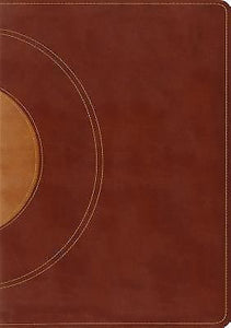 ESV Study Bible TruTone Walnut/Taupe Core Design