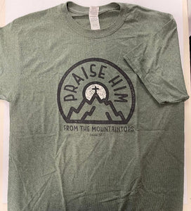 T-Shirt Praise Him From the Mountaintop Green LG