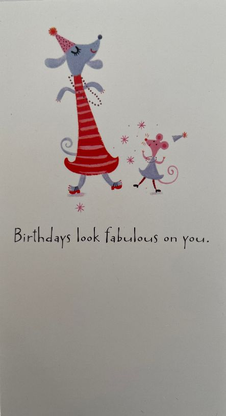 Card Birthday : Fabulous (pack of 6)